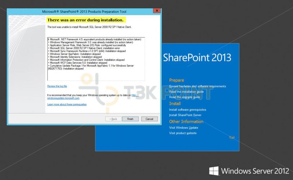 SharePoint Prerequisite Installer - Error